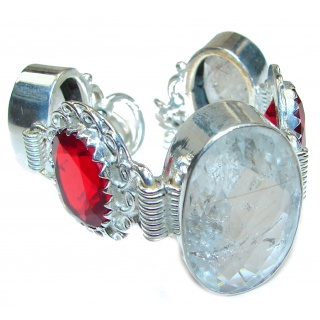 Luxury Mountain Pink Topaz .925 Sterling Silver handmade Bracelet