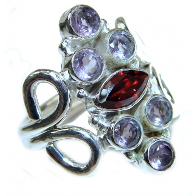 Authentic Multigem .925 Sterling Silver handcrafted Ring size 7