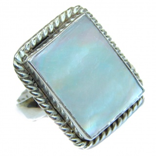 Blister Pearl .925 Sterling Silver handmade ring size 6 3/4