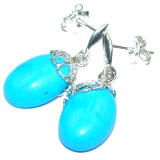Blue Turquoise .925 Sterling Silver earrings