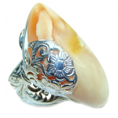 Genuine Butterscotch Baltic Amber .925 Sterling Silver handmade Ring size 7 adjustable