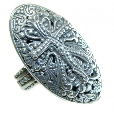 Holy Cross .925 Sterling Silver handcrafted Ring s. 7