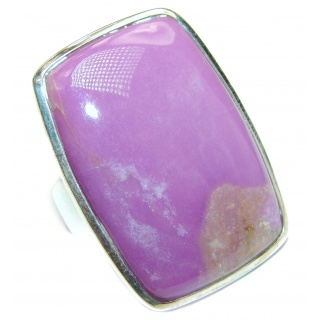 Large Nature Inspired Sugilite .925 Sterling Silver handmade Cocktail Ring s. 8 1/2