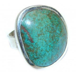 Blue Turquoise .925 Sterling Silver ring; s. 6 1/4