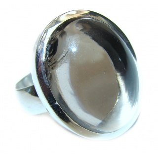 Champagne Smoky Topaz .925 Sterling Silver Ring size 9