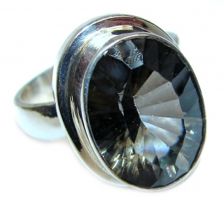 Champagne Smoky Topaz .925 Sterling Silver Ring size 8 1/2