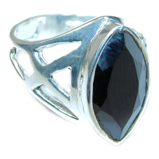 Majestic Authentic Onyx .925 Sterling Silver handmade Ring s. 9 1/4