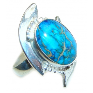 Large Sea Sediment Jasper .925 Sterling Silver handmade ring size 11