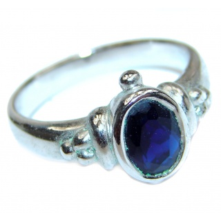 Sublime Natural Kyanite .925 Sterling Silver handcrafted Ring s. 7 3/4