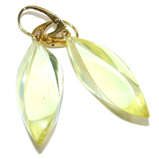 Her Majesty Genuine faceted Baltic Amber .925 Sterling Silver handcrafted Huge Earrings