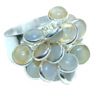 Fashion Beauty Labradorite .925 Sterling Silver cha -cha Ring s. 8