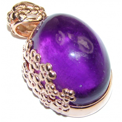 Purple Moon Genuine Amethyst 14k God.925 Sterling Silver handcrafted pendant