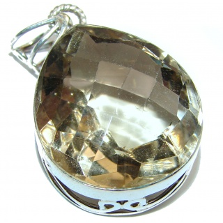 Precious Champagne Topaz .925 Sterling Silver handcrafted Pendant