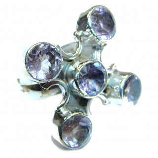 Amethyst .925 Sterling Silver Ring size 8