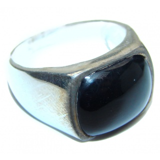 Majestic Authentic Onyx .925 Sterling Silver handmade Ring s. 7 1/2
