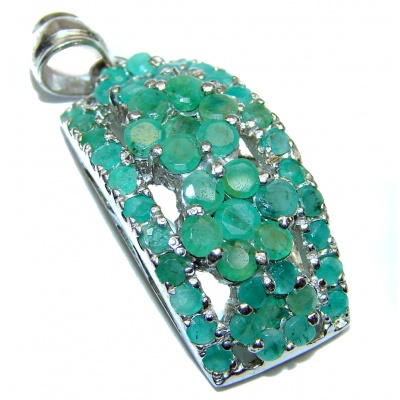 Authentic Emerald .925 Sterling Silver Pendant