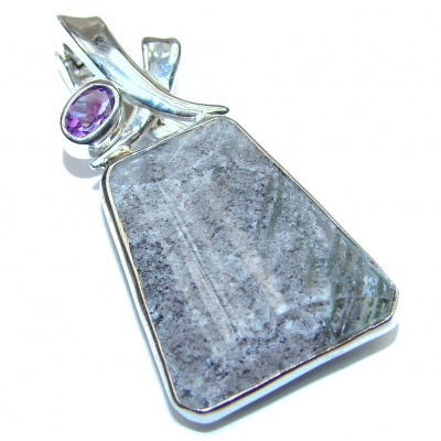 Incredible authentic Phantom Quartz .925 Sterling Silver handmade pendant