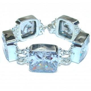New Galaxy White Topaz .925 Sterling Silver handmade Bracelet
