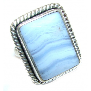 Excellent quality Crazy Lace Agate .925 Sterling Silver Ring s. 9 3/4