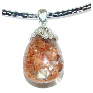 Natural Beauty Phnatom Quartz .925 Sterling Silver handmade necklace