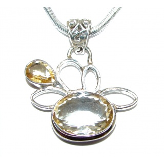 Artisan Master Piece genuine Citrine .925 Silver handcrafted Necklace