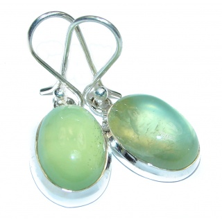 Authentic Moss Prehnite .925 Sterling Silver handmade earrings