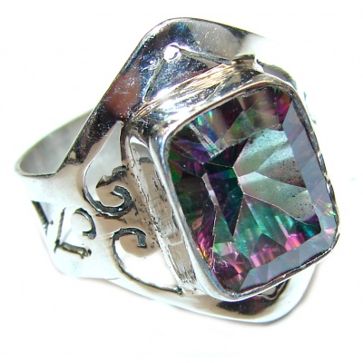 Top Quality Magic Topaz .925 Sterling Silver handcrafted Ring s. 8 1/4