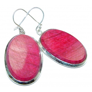 Pink Lace Agate Sterling Silver handmade earrings
