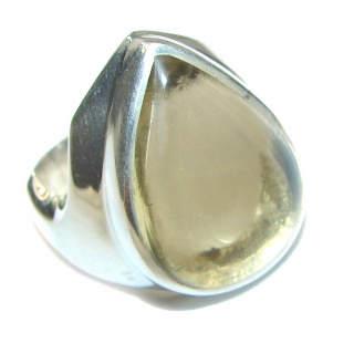 Vintage Style Natural Citrine .925 Sterling Silver handcrafted Ring s. 7 1/4