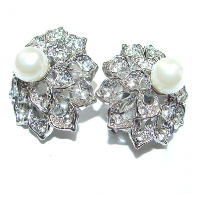 Real Beauty Pearl .925 Sterling Silver handmade clip on Earrings