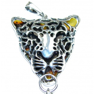 Gephard Natural Baltic Amber .925 Sterling Silver handmade Pendant