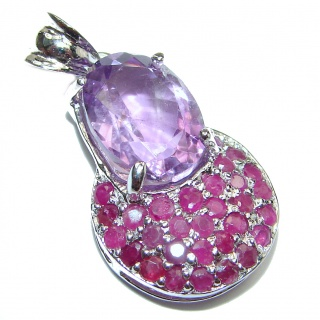 Purple Treasure Genuine Amethyst .925 Sterling Silver handcrafted pendant