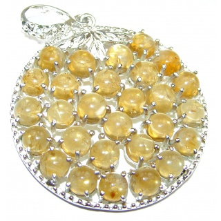Beautiful genuine Citrine .925 Sterling Silver handcrafted Pendant