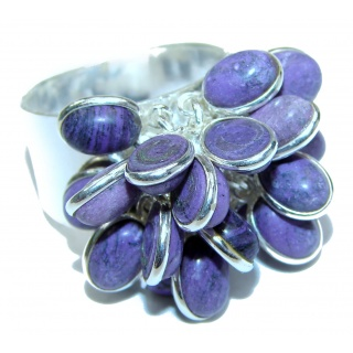 Be Bold Huge Purple Sugalite Sterling Silver handmade Ring s. 9