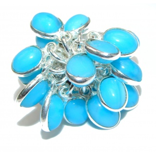 Turquoise .925 Sterling Silver handmade CHA CHA ring s. 8