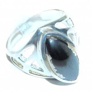 Amazing Hematite Sterling Silver ring s. 8 3/4