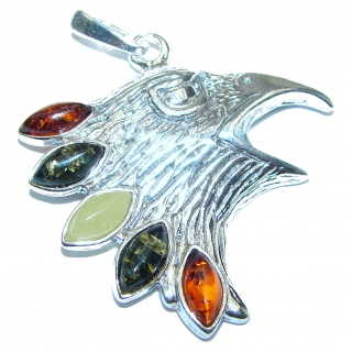 Eagle's Head .925 Sterling Silver handcrafted Pendant
