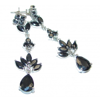 Vintage Design Black Onyx .925 Sterling Silver HANDCRAFTED earrings