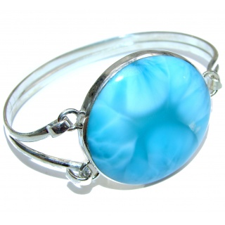 Beauty of Nature best quality Blue Larimar .925 Sterling Silver handcrafted Bracelet