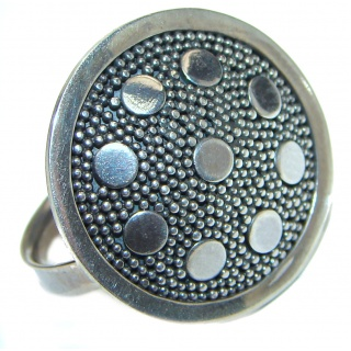 Bali made .925 Sterling Silver handcrafted Ring s. 6 adjustable