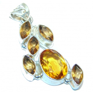 Candy Genuine Golden Quaertz .925 Sterling Silver Pendant
