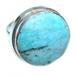 Turquoise .925 Sterling Silver handcrafted ring; s. 7