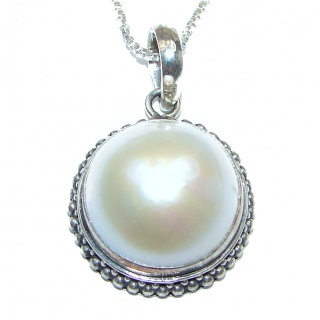 Amazing Genuine Pearl Sterling Silver handmade Necklace