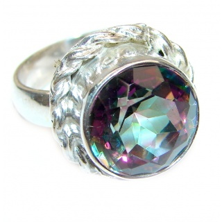 Top Quality Magic Topaz .925 Sterling Silver handcrafted Ring s. 6