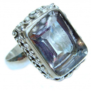 Top Quality Magic Topaz .925 Sterling Silver handcrafted Ring s. 9 1/4