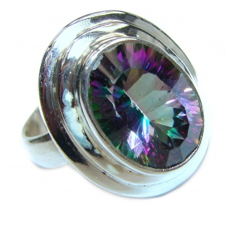 Top Quality Magic Topaz .925 Sterling Silver handcrafted Ring s. 7