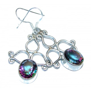 Rainbow Magic Topaz .925 Sterling Silver handmade earrings