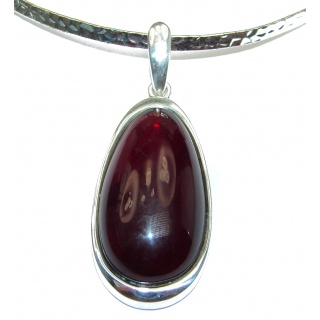 Natural Beauty Cognac Polish Amber .925 Sterling Silver handmade necklace