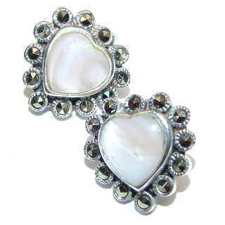 Beauty Blister Pearl .925 Sterling Silver handmade Earrings