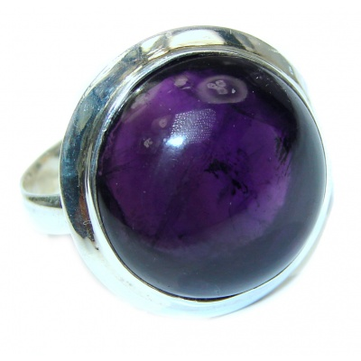 Genuine Amethyst .925 Sterling Silver handcrafted Ring size 9 1/4